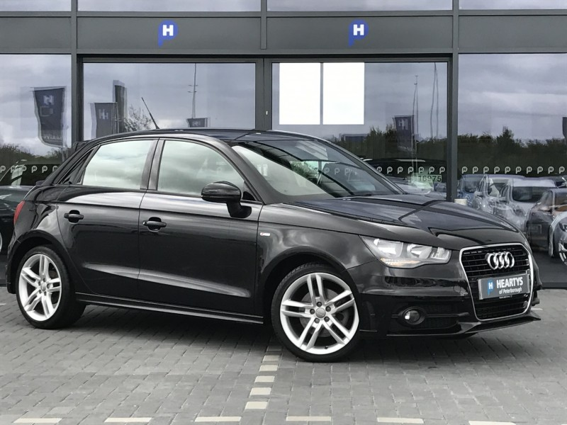 audi a1 sportback tdi s line 1 6l 5dr for sale at heartys of peterborough. Black Bedroom Furniture Sets. Home Design Ideas