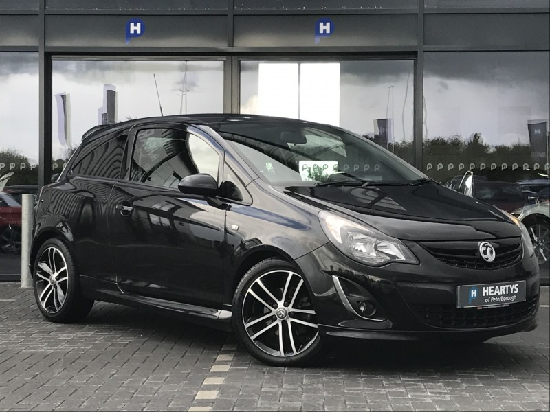 vauxhall corsa black edition 1 4l 3dr for sale at heartys of peterborough. Black Bedroom Furniture Sets. Home Design Ideas