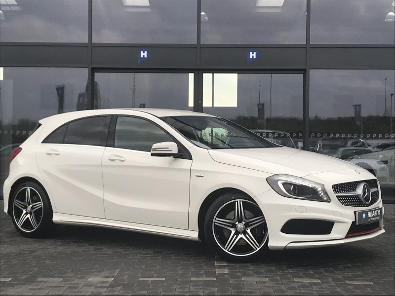 mercedes benz a class a250 blueefficiency engineered by amg 2l 5dr for sale at heartys of. Black Bedroom Furniture Sets. Home Design Ideas