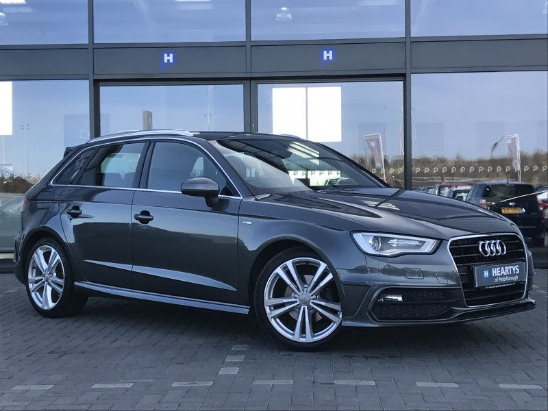 audi a3 tdi s line 2l 5dr for sale at heartys of peterborough. Black Bedroom Furniture Sets. Home Design Ideas