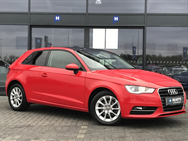 audi a3 tdi se 2l 3dr for sale at heartys of peterborough. Black Bedroom Furniture Sets. Home Design Ideas