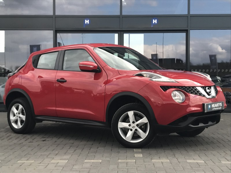 nissan juke visia 1 6l 5dr for sale at heartys of peterborough. Black Bedroom Furniture Sets. Home Design Ideas