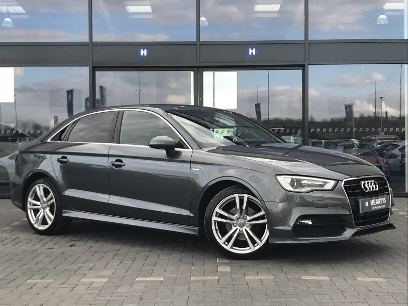 audi a3 tdi s line 2l 4dr for sale at heartys of peterborough. Black Bedroom Furniture Sets. Home Design Ideas
